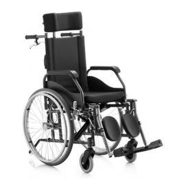Cadeira De Rodas Fit Reclinável 44 Preta Ref. 1714 Jaguaribe