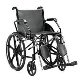 Cadeira De Rodas Preta Maciço Pi Courvin (45 Cm) Ref. 1016 Jaguaribe