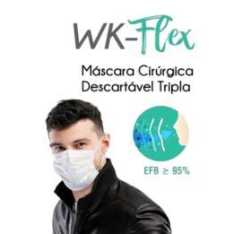 Máscara Elástica Descartável Cx/50 Workflex
