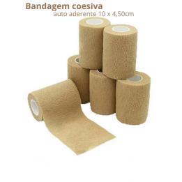 Bandagem Elástica Autoaderente 10x450cm Bege Bioland