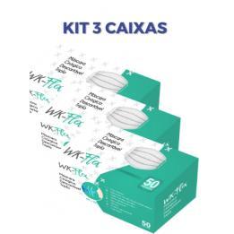 Kit Com 03 Caixas De Máscaras Descartáveis C/50 Workflex