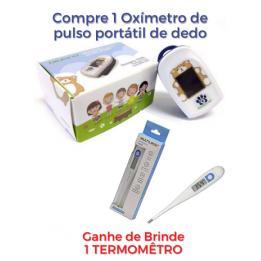Kit Oximetro Infantil Portátil + Termômetro Digital