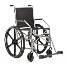 Cadeira De Rodas Aço 1009 Rn (Pneu Maciço) Ref. 7095 Baxman