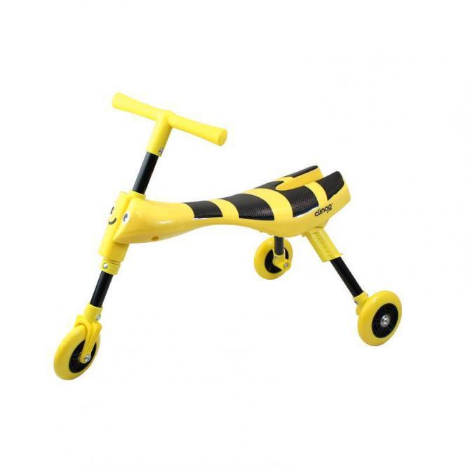 Triciclo Infantil Dobrável -  Brasgrup Amarelo 12M+ C1004