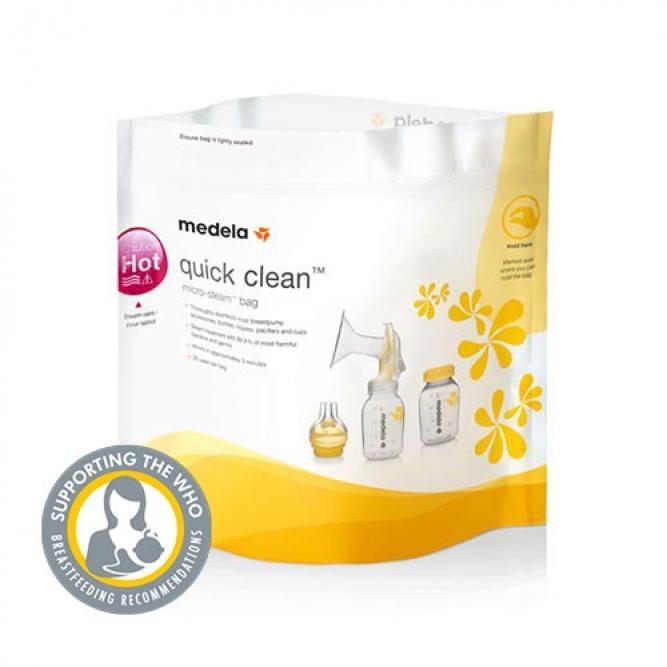 Sacos De Esterilizacao Para Microondas Quick Clean - Medela BRANCO 5UNI 0080041