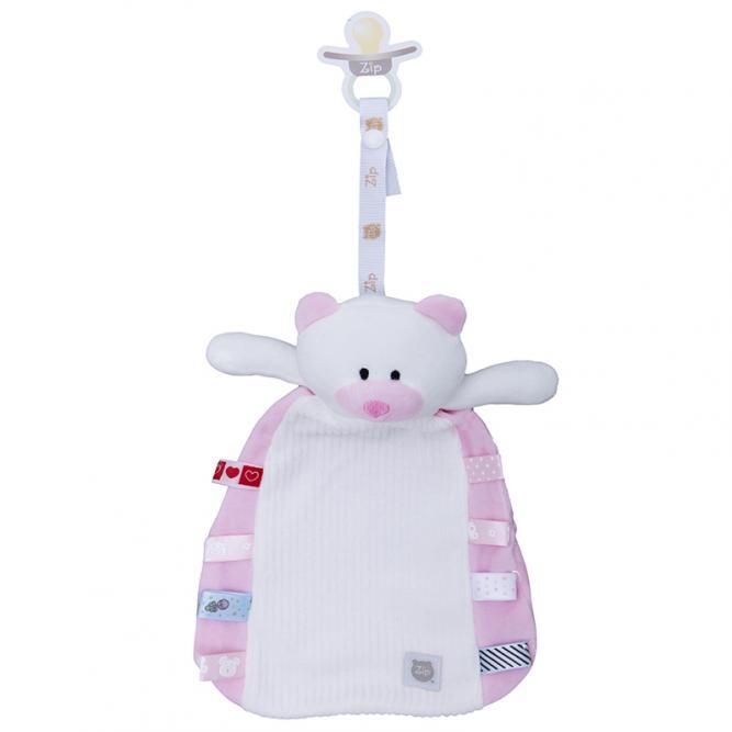 Blanket Tags - Zip Toys TAGS URSO ROSA Unico 0091607501