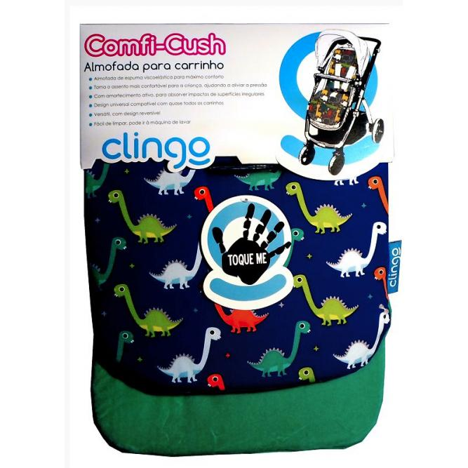 Almofada Para Carrinho Comfi Cush - Clingo  DINOSAUR FUN  C2124