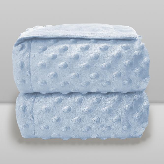 Cobertor Dots S/Sherpa  - Donna  AZUL 90X110 7891234516381