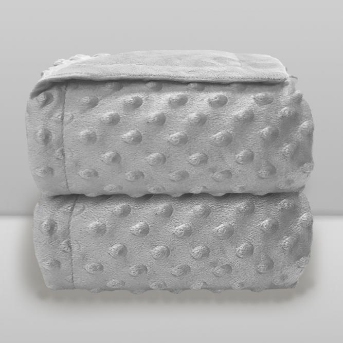 Cobertor Dots S/Sherpa  - Donna  CINZA 90X110 7891234516213