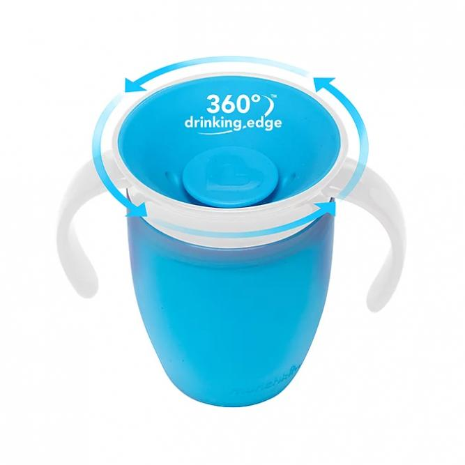 Copo 360º C/Tampo Treinamento - Munckin Azul 207ML 0251854