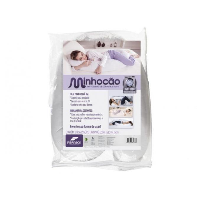 Travesseiro Minhocão De Corpo 150x21x15 - Fibrasca