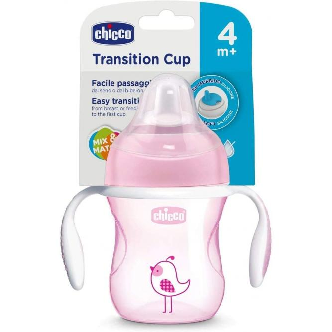 Copo Transition Cup 4m+ Menina 6911100000 Chicco ROSA 4M+ 00006911100000