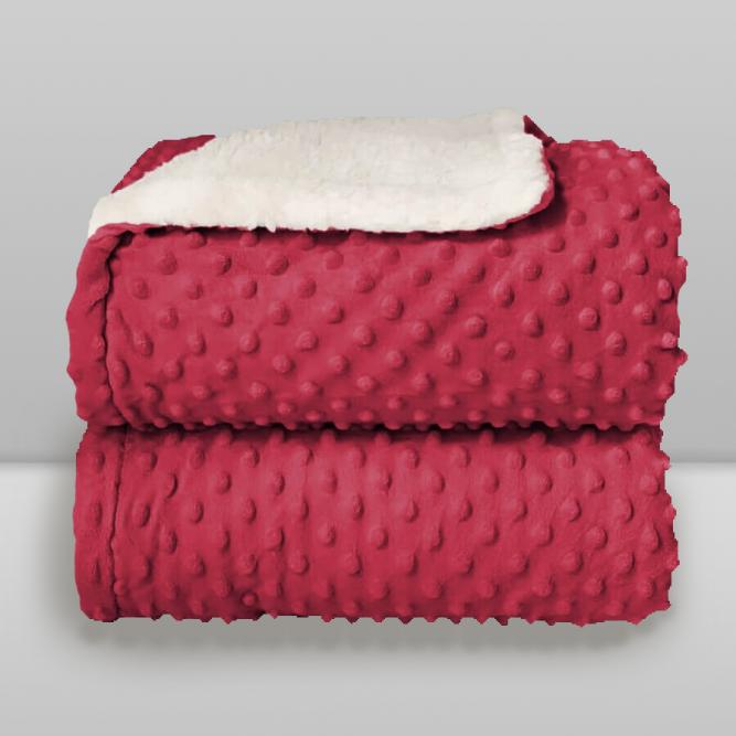 Cobertor Dots Sherpam - Donna  PINK 90X110 789123451631216978