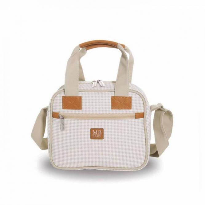 Frasqueira Maternidade - Masterbag MARFIM QUADRICULADA 26X22,5X11CM 51MBQ372