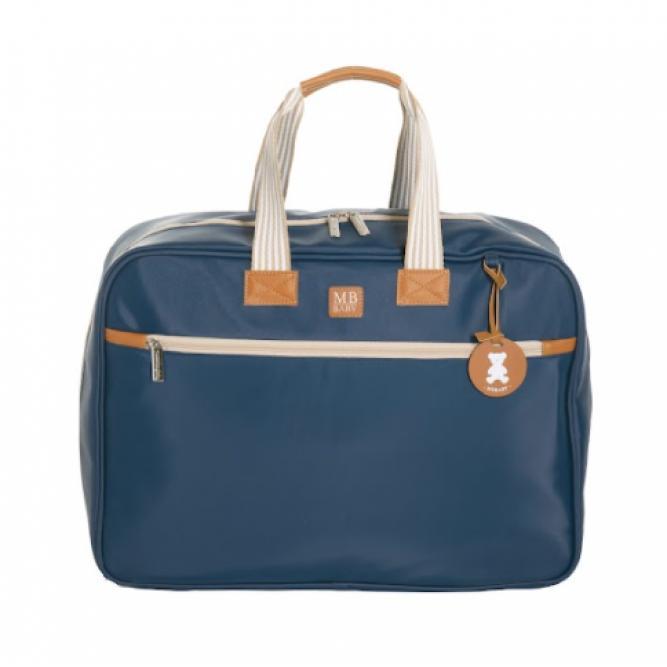 Mala Maternidade Classic - Masterbag MARINHO LISTRAS 48X35X14CM 51MBC370