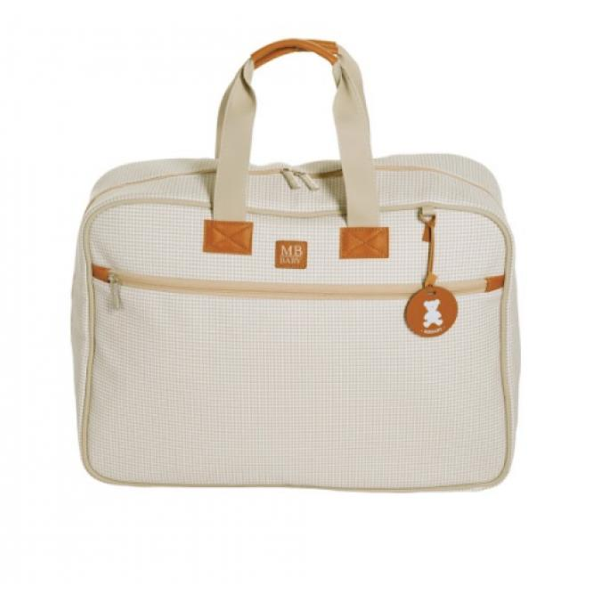 Mala Maternidade Classic - Masterbag MARFIM QUADRICULADA 48X35X14CM 51MBQ370