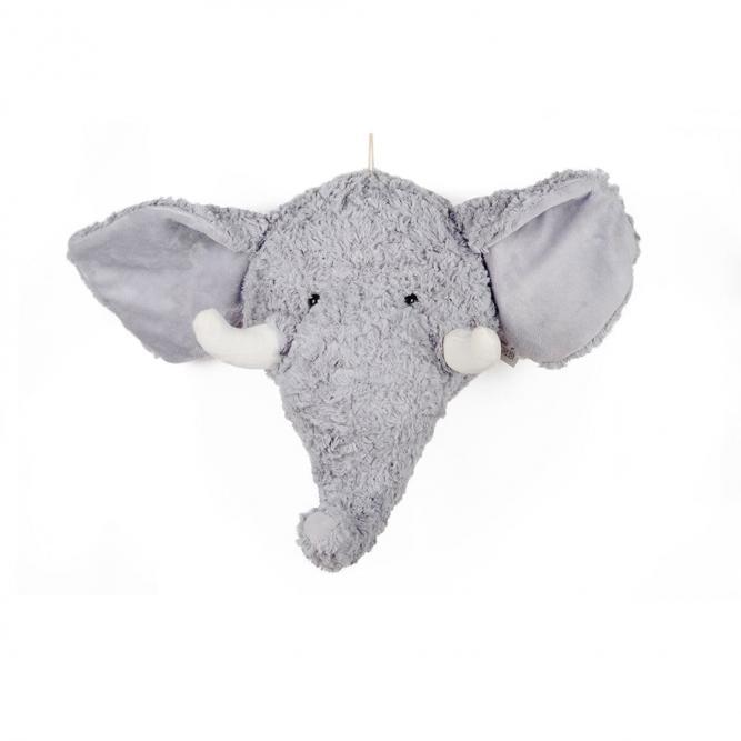 Cabeça  De Elefante Pelúcia - Modali  ELEFANTE  MBWH09