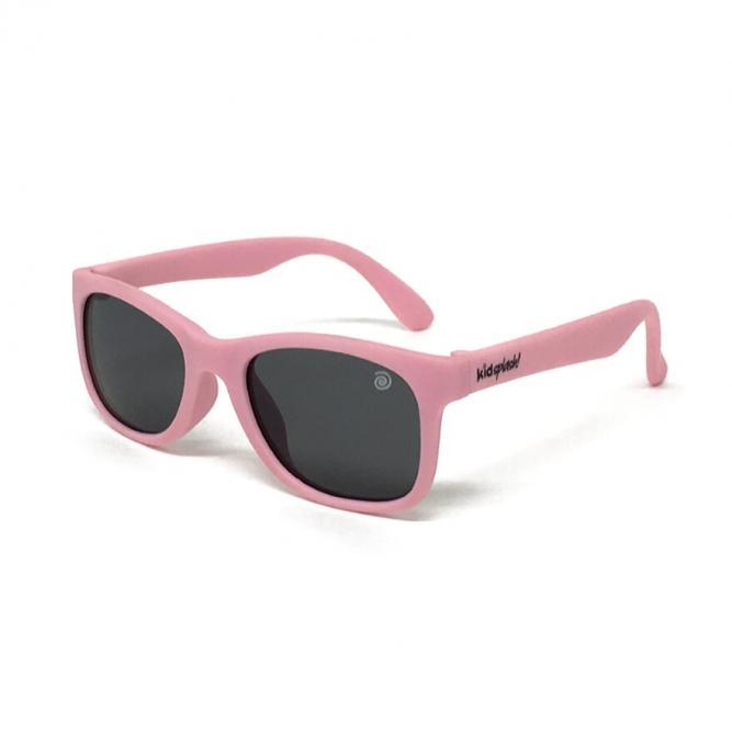 Óculos De Sol Infantil Flexível Com Lente Polarizada E Proteção Uv400 Rosa Nude M - Kidsplash