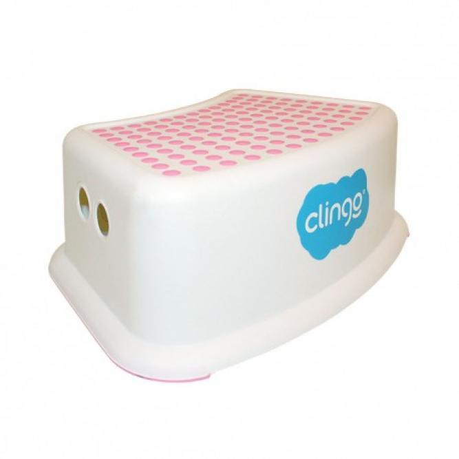 Degrau Antiderrapante Step Dots - Clingo ROSA/BRANCO  C02526