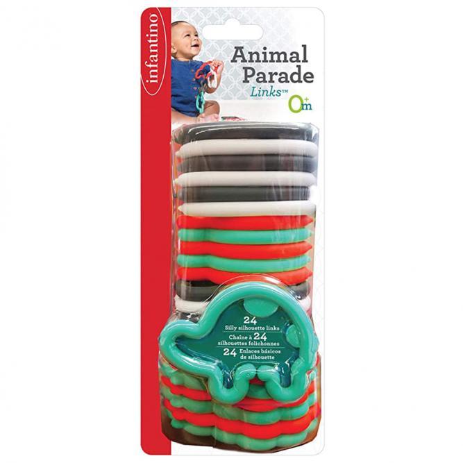 Brinquedo Interativo De Encaixe  - Infantino ANIMAIS 24 PECAS 3284