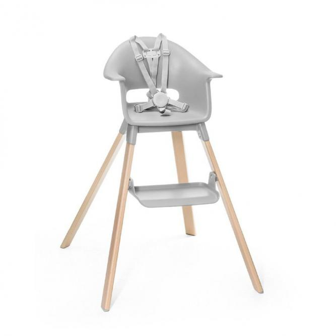 Cadeira Alimentação Click Cinza C/Almofada - Girotondo Cinza  W552001