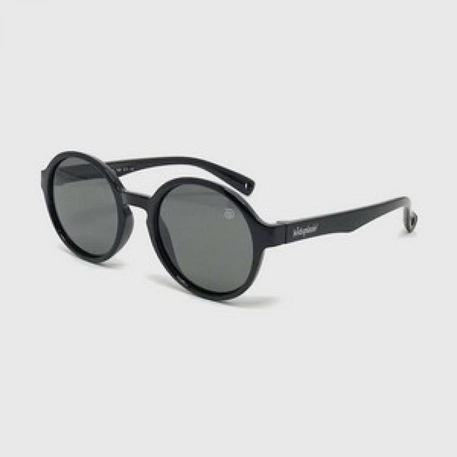 Óculos De Sol M Infantil Flexível Redondo Com Lente Polarizada E Proteção Uv400 Preto - Kidsplash