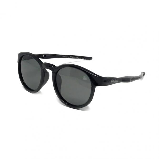 Óculos De Sol M Infantil Flexível Redondo Esportivo Com Lente Polarizada E Proteção Uv400 Preto - Kidsplash