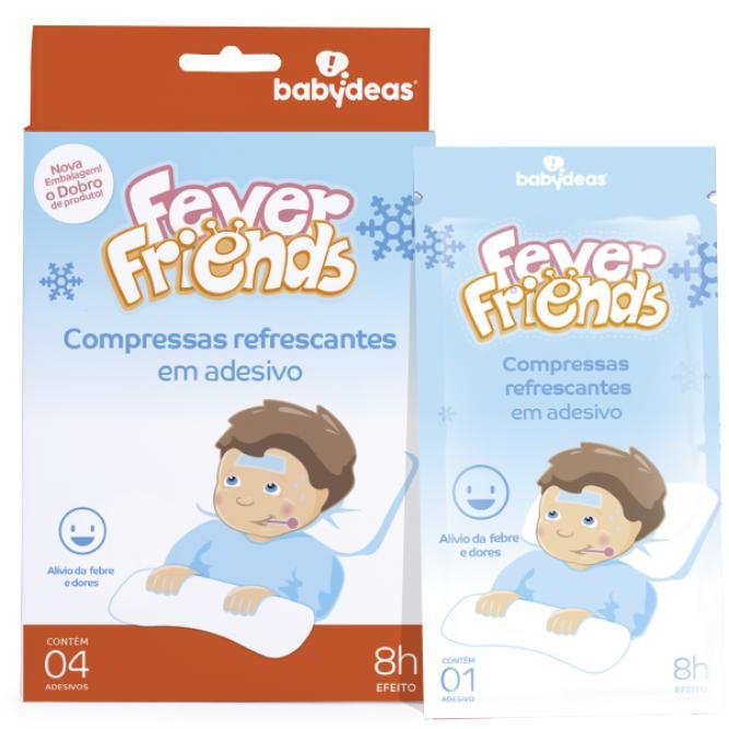Compressa Refrescante Em Adesivo Fever Friends - Babydeas 4 UNI  70010288