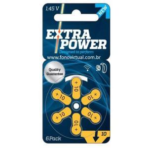 Pilha Aparelho Auditivo Extra Power 10 A 6 Unidades