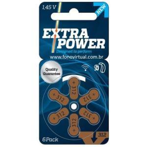 Pilha Aparelho Auditivo Extra Power 312 A 6 Unidades