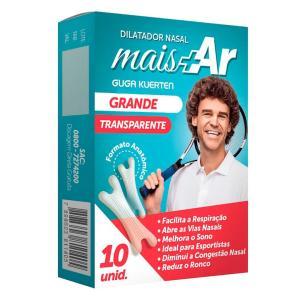 (F)Dilatador Nasal Pague 10 Unidades Leve 15 Grande Mais Ar Transparente