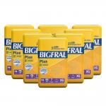 Fralda Bigfral Plus Extra Grande Combo Fardo Com 8 Pacotes