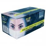 Mascara Tripla Com Elastico Branca Caixa 50 Unidades Kestal