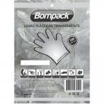 Luva Plastica Nao Esteril 100 Unidades Bompack