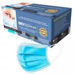 Mascara Tripla Com Elastico Azul Caixa 50 Unidades Protecao 48 Horas Biotex Plus