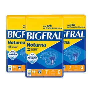 Fralda Bigfral Noturna Grande Combo 3 Pacotes