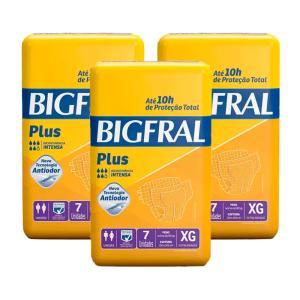 Fralda Bigfral Plus Extra Grande Combo Com 3 Pacotes