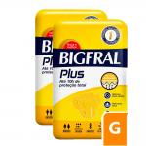 Fralda Bigfral Plus Grande Combo 2 Pacotes
