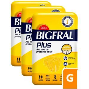 Fralda Bigfral Plus Grande Combo 3 Pacotes
