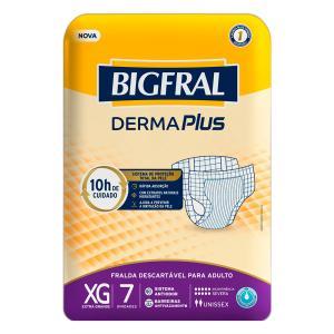 Fralda Bigfral Derma Plus Extra Grande 7 Unidades