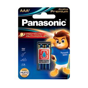Pilha Alcalina Palito 2 Unidades Aaa2 Premium Panasonic