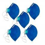Mascara Respirador Pff2 Sem Valvula Azul Combo 5 Unidades Lubeka