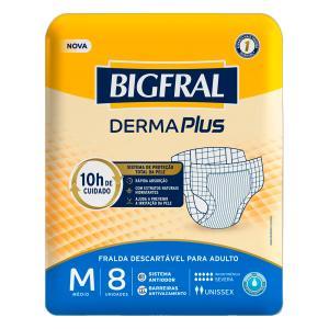 Fralda Bigfral Derma Plus Media 8 Unidades