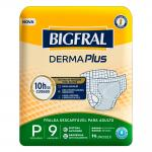 Fralda Bigfral Derma Plus Pequena 9 Unidades