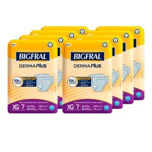 Fralda Bigfral Derma Plus Extra Grande Combo Fardo Com 8 Pacotes