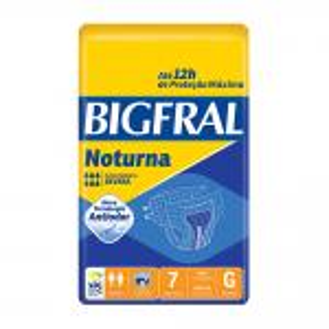 Fralda Bigfral Noturna Grande 7 Unidades