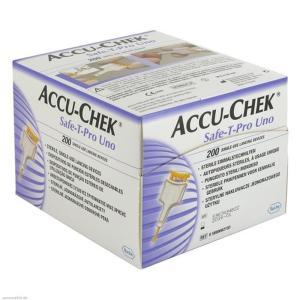 Lanceta Accu Chek Safe-T Pro Uno 200 Unidades